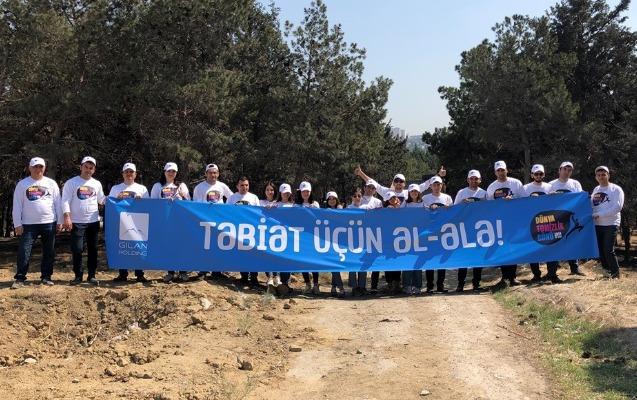 """""""Gilan Holding"""" """"World Cleanup Day"""" hərəkatına qoşuldu"""