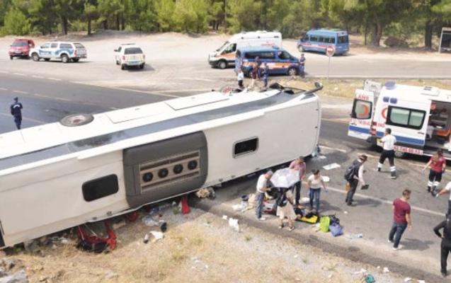 Türkiyədə rusları daşıyan avtobus aşdı, yaralılar var