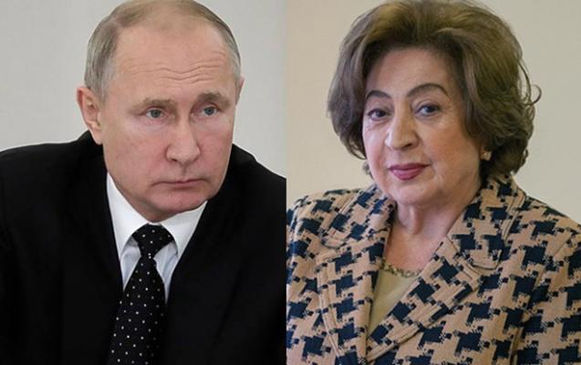 Putin Yerevanda Koçaryanın xanımı ilə görüşüb