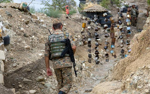Qazax istiqamətində erməni əsgər yaralanıb