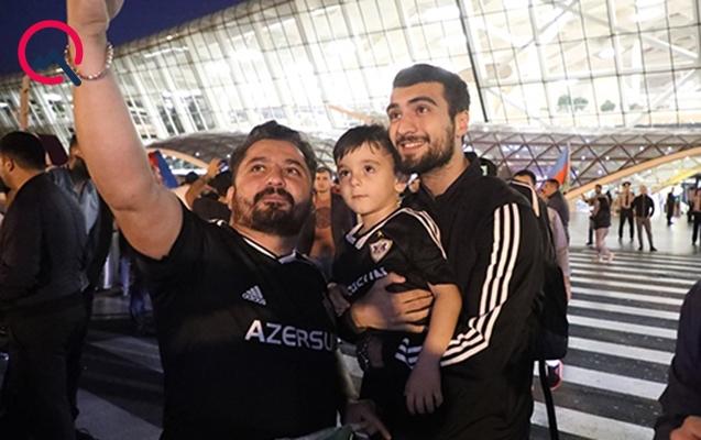 """""""Qarabağ"""" Bakıda belə qarşılandı"""