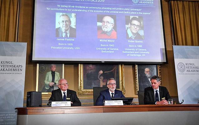 Üç fizikə Nobel mükafatı verildi