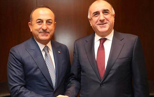 Məmmədyarov Çavuşoğlu ilə bir arada