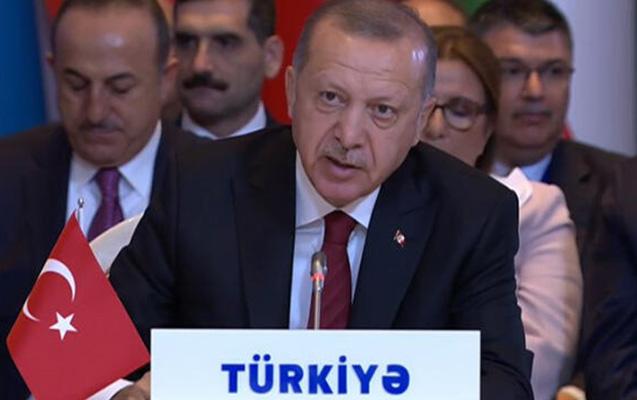 """Ərdoğan Bakıda """"Sülh Çeşməsi""""ndən danışdı"""
