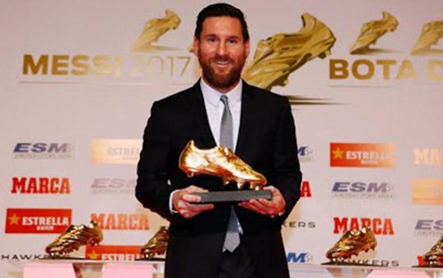 """Messi """"Qızıl buts"""" mükafatını aldı"""