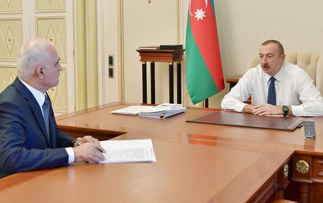 Prezident Şahin Mustafayevi qəbul etdi
