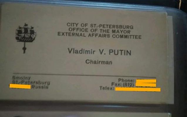 Putinin vizit kartı 2 milyona satışa çıxarıldı