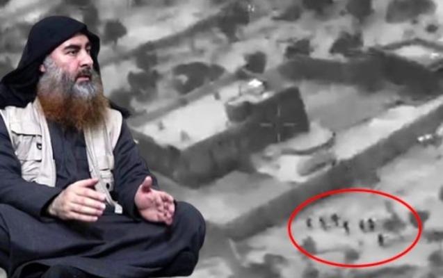 ABŞ əl-Bağdadinin öldürülmə anının görüntülərini yaydı - Video