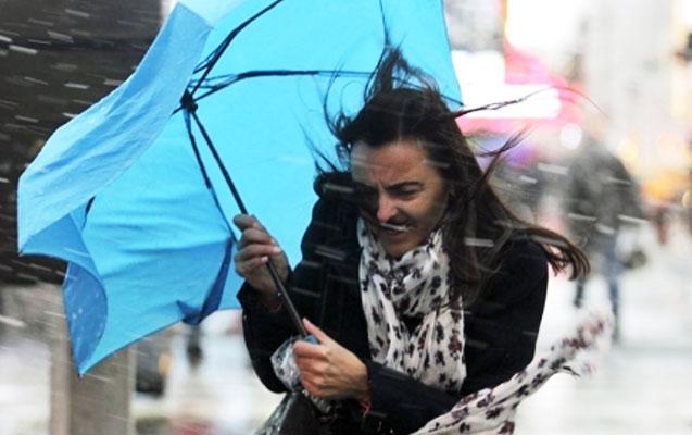 Bakıya yağış yağır