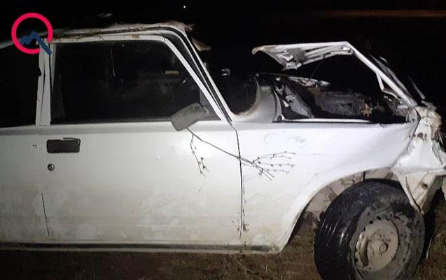 İki maşın toqquşdu, 4 nəfər yaralandı