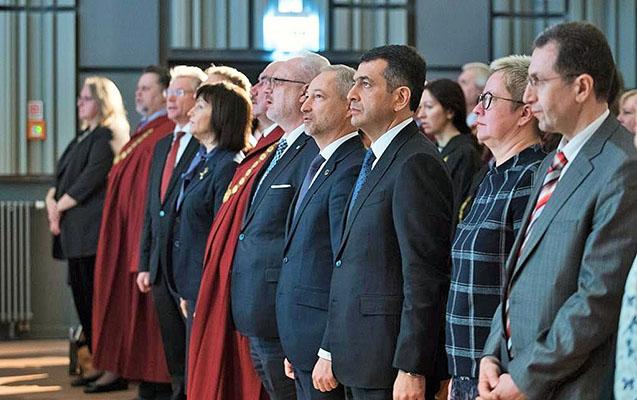 Latviya Prezidenti Azərbaycanlı hakimi qəbul etdi