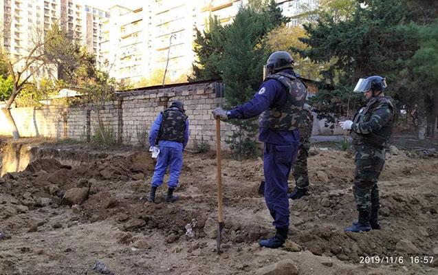 Xətai rayonunda top mərmiləri tapıldı