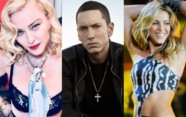Madonna, Eminem, Şakira...