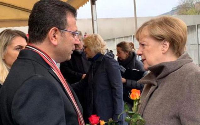 İmamoğlu Merkellə görüşüb, onu İstanbula dəvət etdi
