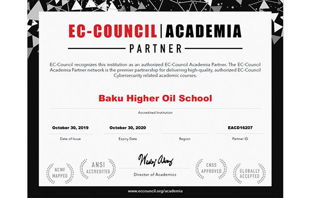 Bakı Ali Neft Məktəbi nüfuzlu təşkilatın rəsmi Akademiya Partnyoru seçilib