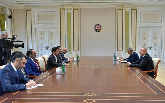 Prezident BƏƏ-nin İqtisadiyyat nazirini qəbul etdi