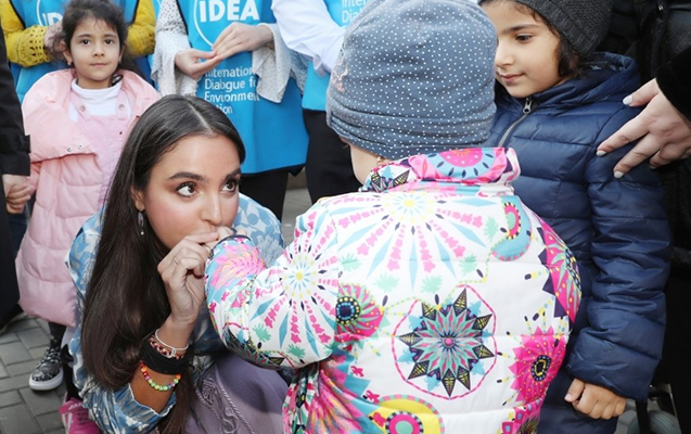 Leyla Əliyeva açılışda - Fotolar