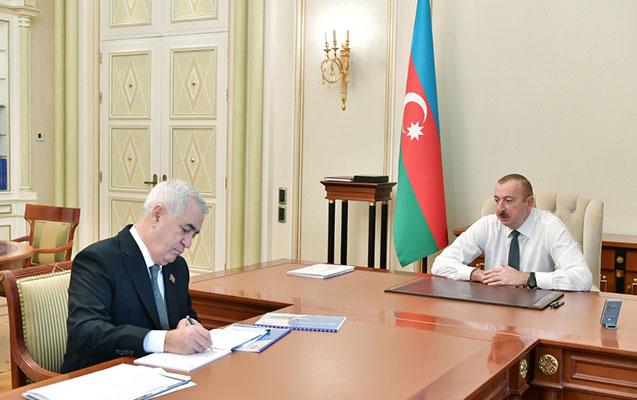 Prezident Cavid Qurbanovu qəbul etdi