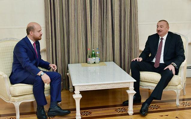 Prezident Ərdoğanın oğlu ilə görüşdü