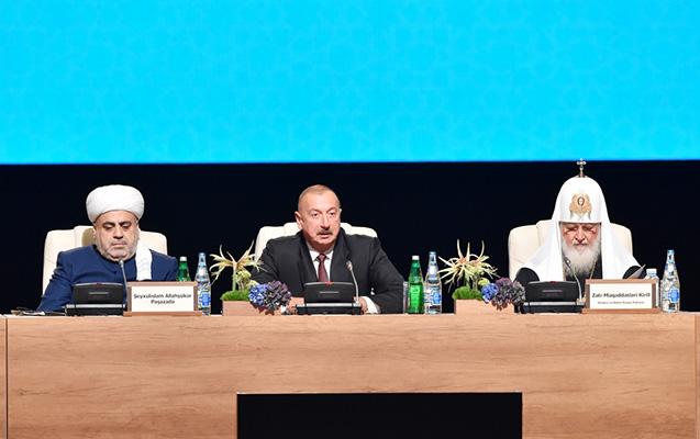Prezident dünya dini liderlərinin II Sammitinin açılışında