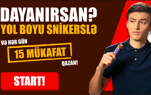 """""""Yol boyu snikerslə"""" lotoreyasının qalibləri bəlli oldu"""