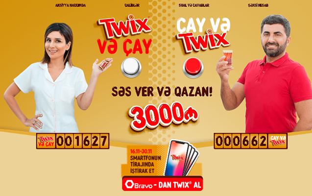 """""""TWIX"""" ye və 3000 AZN qazan"""