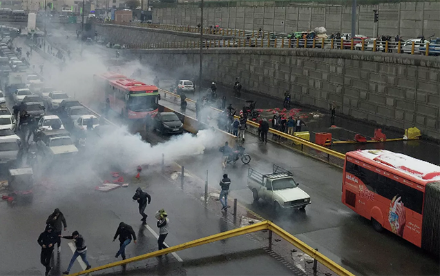 Tehranda iğtişaşlar zamanı 3 polis öldürülüb