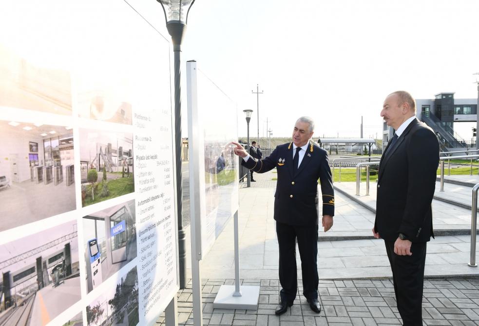 Prezident Pirşağı stansiyasında - Fotolar
