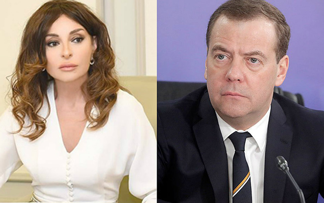 Mehriban Əliyeva Medvedevlə görüşəcək