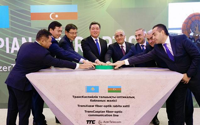"""""""AzerTelecom""""un iştirakı ilə Xəzərdə fiber-optik xəttin çəkilməsinə başlandı"""