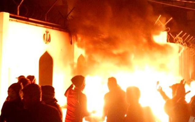 İranın İraqdakı konsulluğu ikinci dəfə yandırıldı