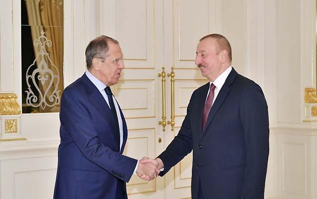 İlham Əliyev Sergey Lavrovu qəbul etdi