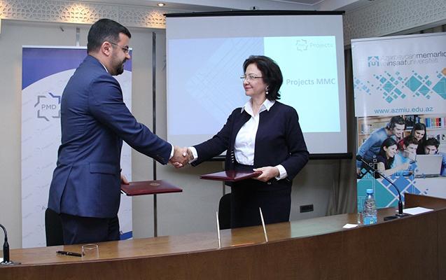"""AzMİU ilə """"PMD Projects"""" arasında müqavilə imzalanıb"""