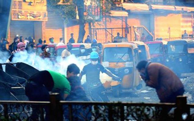 Bağdadda aksiyaçılara atəş açıldı