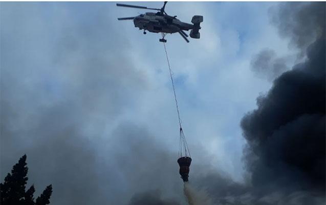 Yanğın yerinə 3 helikopter göndərildi - Yenilənir + Video