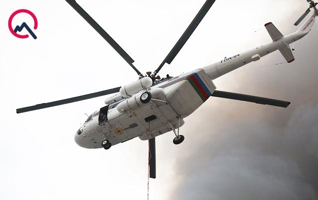 Yanğın yerinə 3 helikopter göndərildi