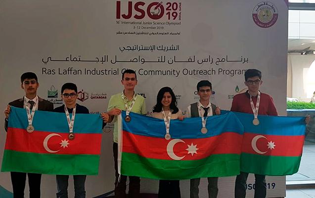Məktəblilərimiz beynəlxalq olimpiadada medal qazandı