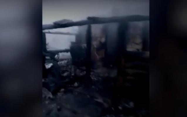 Rusiyada ev yandı