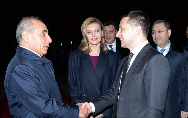 Zelenskinin Azərbaycana səfəri başa çatdı -