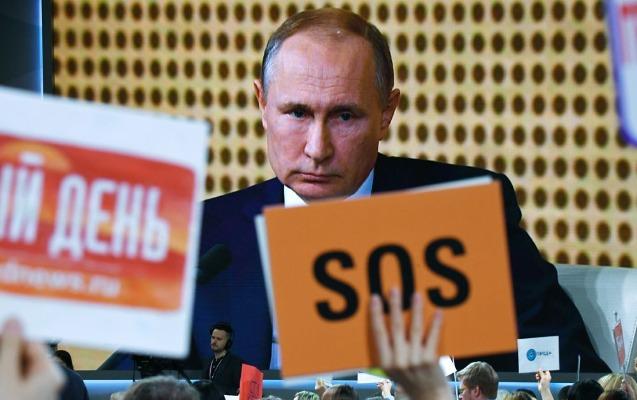 Putinə sual vermək üçün bu cür diqqət çəkdilər