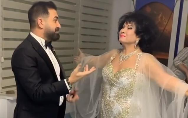 Zeynəb Xanlarova AzTV-nin yeni il çəkilişi üçün Bakıya gəldi