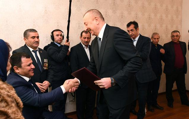 Prezident Qarabağ əlillərinə ev verdi - Fotolar