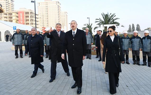 Prezident ailəsi ilə Ağ Şəhərdə - Fotolar