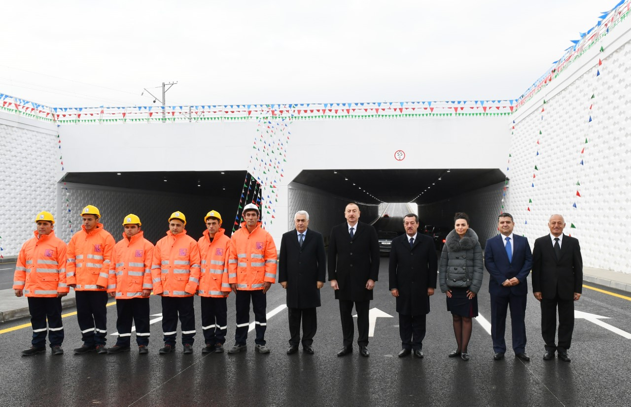 İlham Əliyev Pirşağıda açılışda - Fotolar