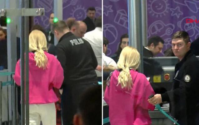 Hava limanında dava salan müğənni polis mərkəzinə aparıldı