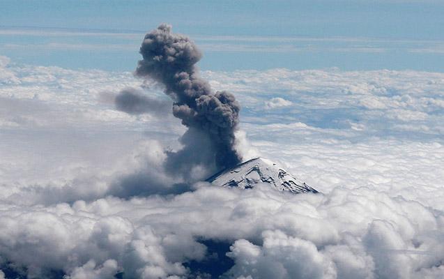 Meksikanın ən böyük vulkanı püskürdü