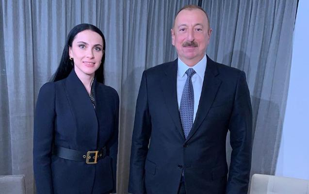 """Prezident Davosda """"Rossiya 1""""ə müsahibə verdi"""