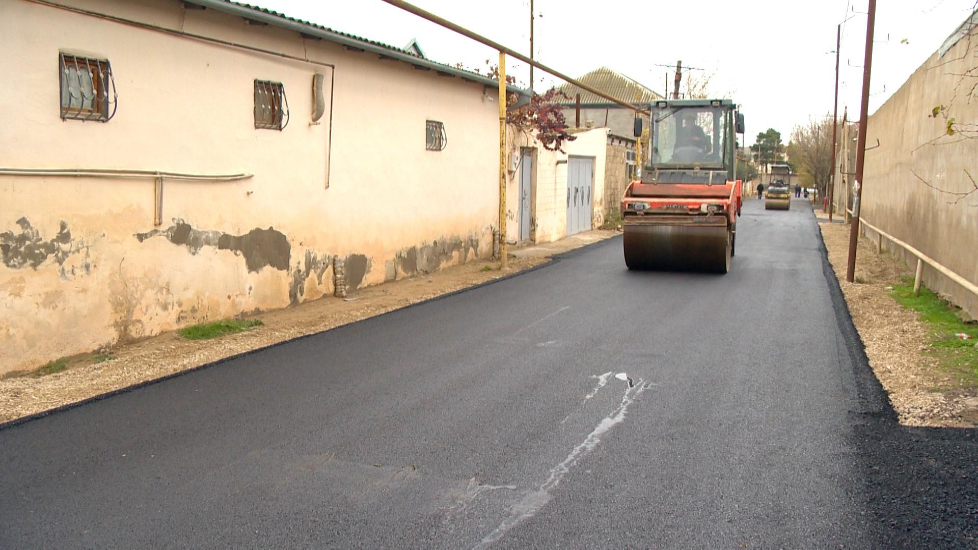 Bakıda bu yollara asfalt salınır - Fotolar