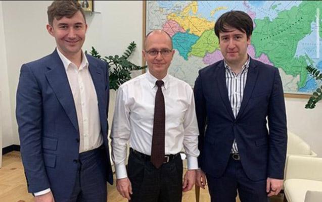 Teymur Rəcəbov Putin Administrasiyası rəhbərinin müavini ilə görüşdü