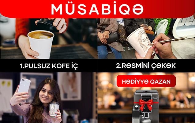 """""""Kontakt Home""""da pulsuz kofe iç, 2400 AZN-lik hədiyyə qazan"""